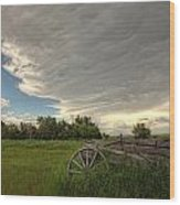 Storm Clouds Gather Over An Abandoned Wood Print
