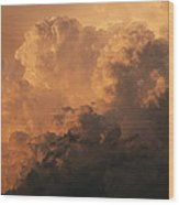 Storm Clouds Gather Over The Badlands Wood Print