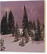 Storm Clouds Over The Monte Cristo Summit Wood Print