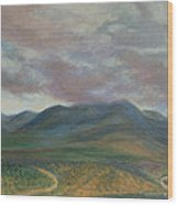 Storm Clouds Over the Ortiz Mountains Wood Print