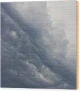 Storm Clouds Rising Wood Print