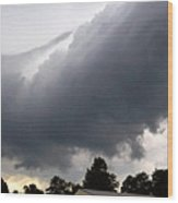 Storm Front At Rachel's Farm Wood Print