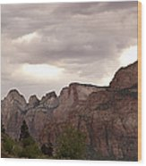 Storm In Zion Wood Print