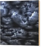 Storm Is Here Wood Print