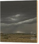 Storm On The Front Range Wood Print