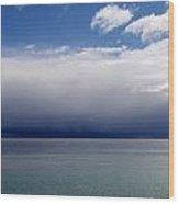 Storm On The Horizon Wood Print