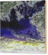 Storm On The Landscape Wood Print