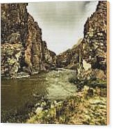 Storm On The Wind River Wood Print