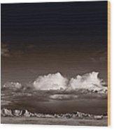 Storm Over Badlands Wood Print