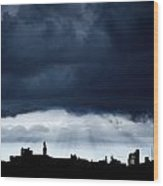 Storm Over City, Tyne And Wear, England Wood Print