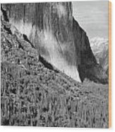 Storm Over El Capitan Wood Print