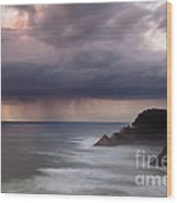 Storm Over Heceta Head  Wood Print