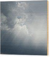 Storm Over Jamestown Wood Print