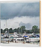 Storm Over Lake Erie Wood Print