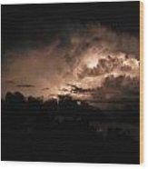 Storm Over Ocracoke Wood Print
