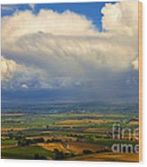 Storm Over The Kittitas Valley Wood Print