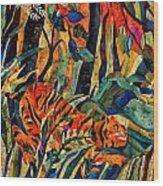 Storm Tribute To Henri Rousseau Wood Print by Sandra Kern