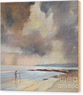 Storm Watchers Wood Print by Pamela Pretty