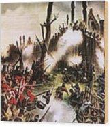 Storming Of Maori Fort  Wood Print