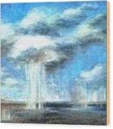 Storm's A Comin' Wood Print