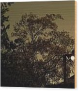 Storm's Brewin' Wood Print
