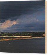 Storms Over Sardis Wood Print