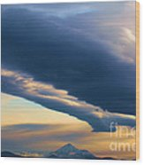 Storms Over Shasta Wood Print