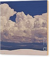 Storms Over The Mountains Wood Print