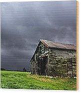 Stormy Barn Wood Print