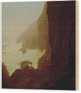 Stormy Coast Wood Print by Kenneth De Tore