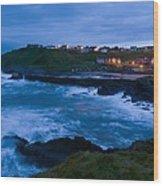 Stormy Coast, Scotland Wood Print