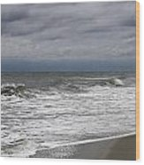 Stormy Day In Surfside Wood Print