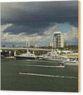 Stormy Fort Lauderdale Wood Print