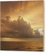 Stormy Gulf Coast Sunset Wood Print by Matt Tilghman