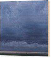 Stormy Morning Wood Print