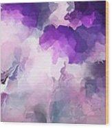 Stormy Purple Wood Print