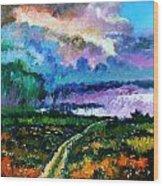 Stormy Road Wood Print