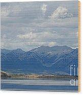 Stormy Skies In Jasper Wood Print