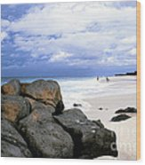 Stormy Sky Banzai Beach Wood Print by Thomas R Fletcher