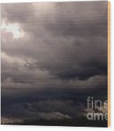 Stormy Sky Over Pasture Wood Print