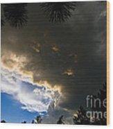 Stormy Sky Wood Print by Terry Elniski