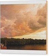 Stormy Sundowner Wood Print