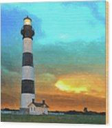 Stormy Sunrise Wc Wood Print by Dan Carmichael
