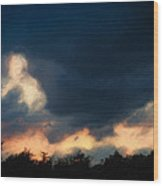 Stormy Sunset  1206 Wood Print