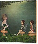 Story Timei N The Forest Wood Print