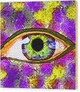 Strange Eye II Wood Print