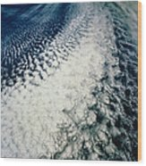 Stratocumulus Cloud Line Over E.pacific Wood Print