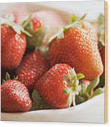 Strawberries Wood Print by Kim Fearheiley