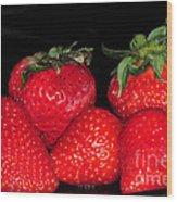 Strawberries Wood Print by Paul Ward