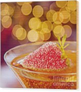 Strawberry And Champagne Wood Print by Kim Fearheiley